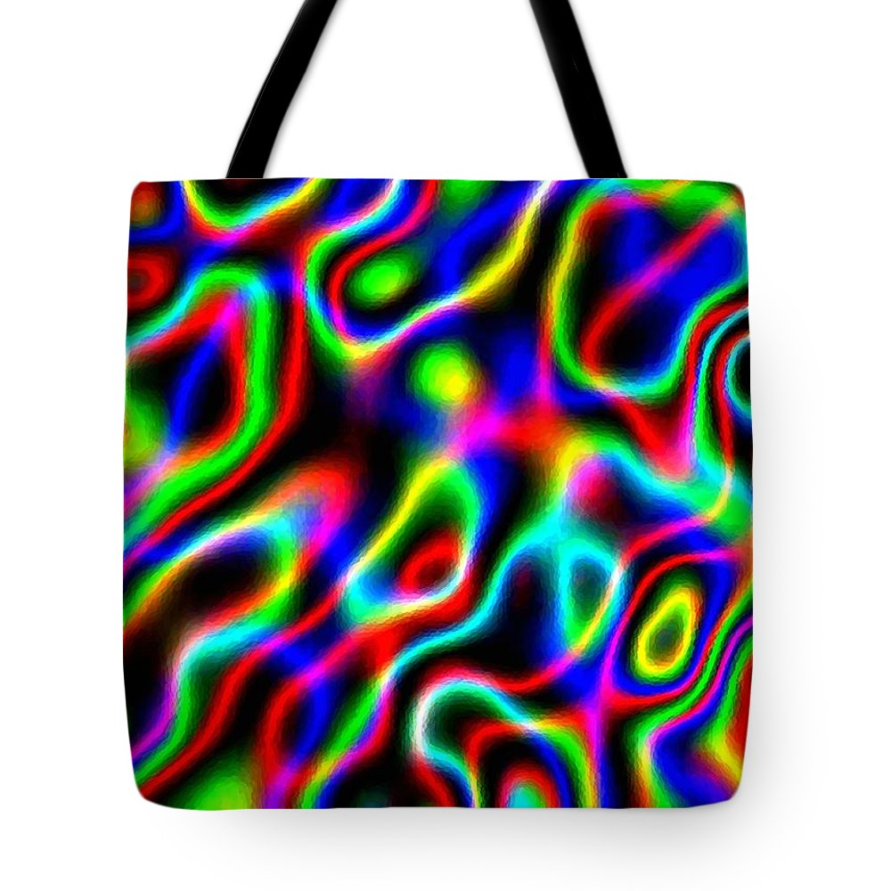 Abstract Tote Bag featuring the digital art Harmony 36 by Will Borden