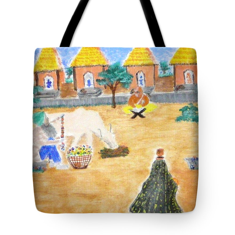 Tote Bag featuring the painting Harmony by R B