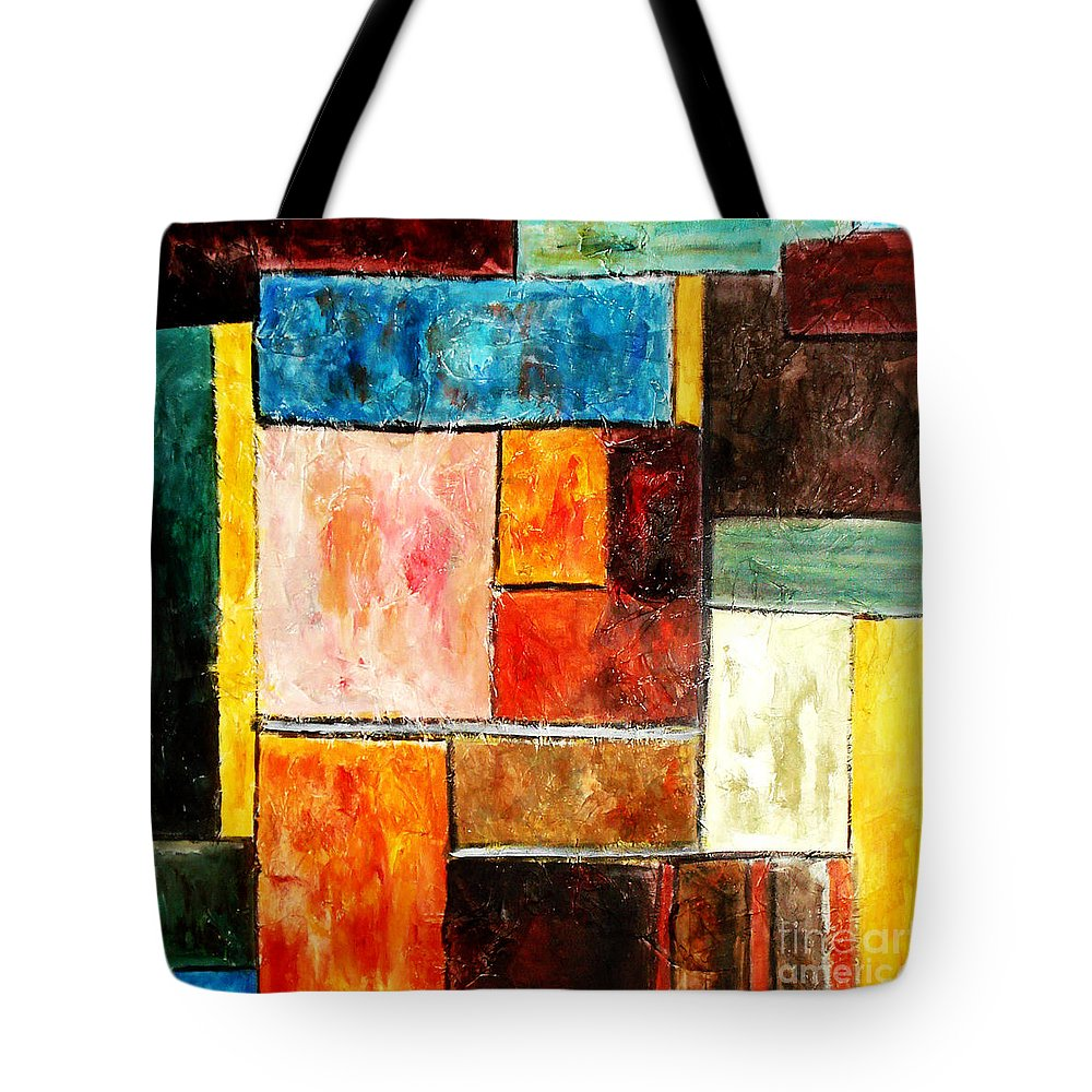 Acrylic Painting Tote Bag featuring the painting Harmony by Yael VanGruber