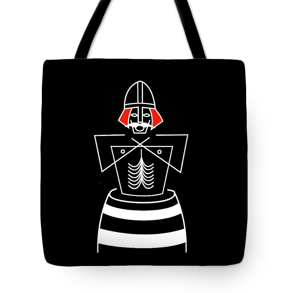 Bluetooth Tote Bag featuring the mixed media Harold Bluetooth by Asbjorn Lonvig