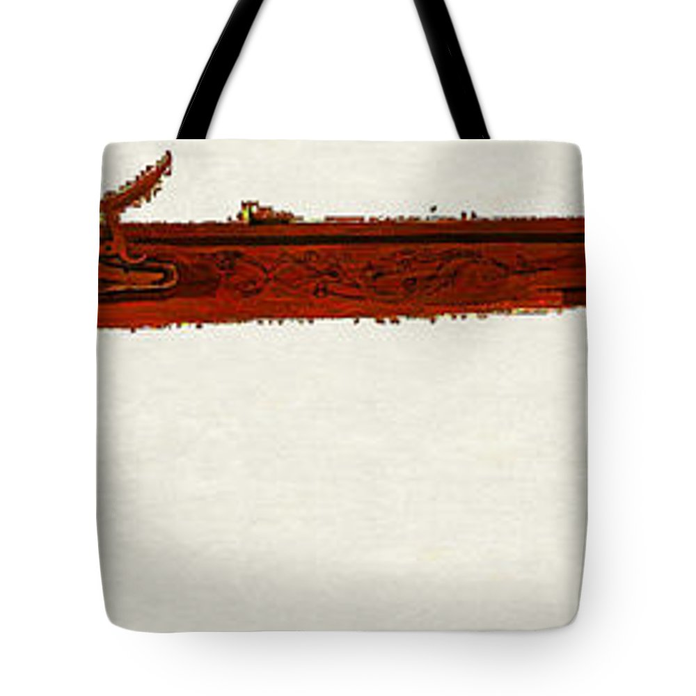 Harper's Ferry Model 1803 Rifle Tote Bag featuring the digital art Harper's Ferry Model 1803 Rifle by Lora Battle