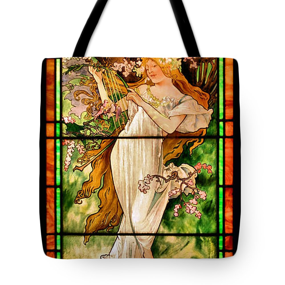 Stained Glass Tote Bag featuring the photograph Harpist by Kristin Elmquist
