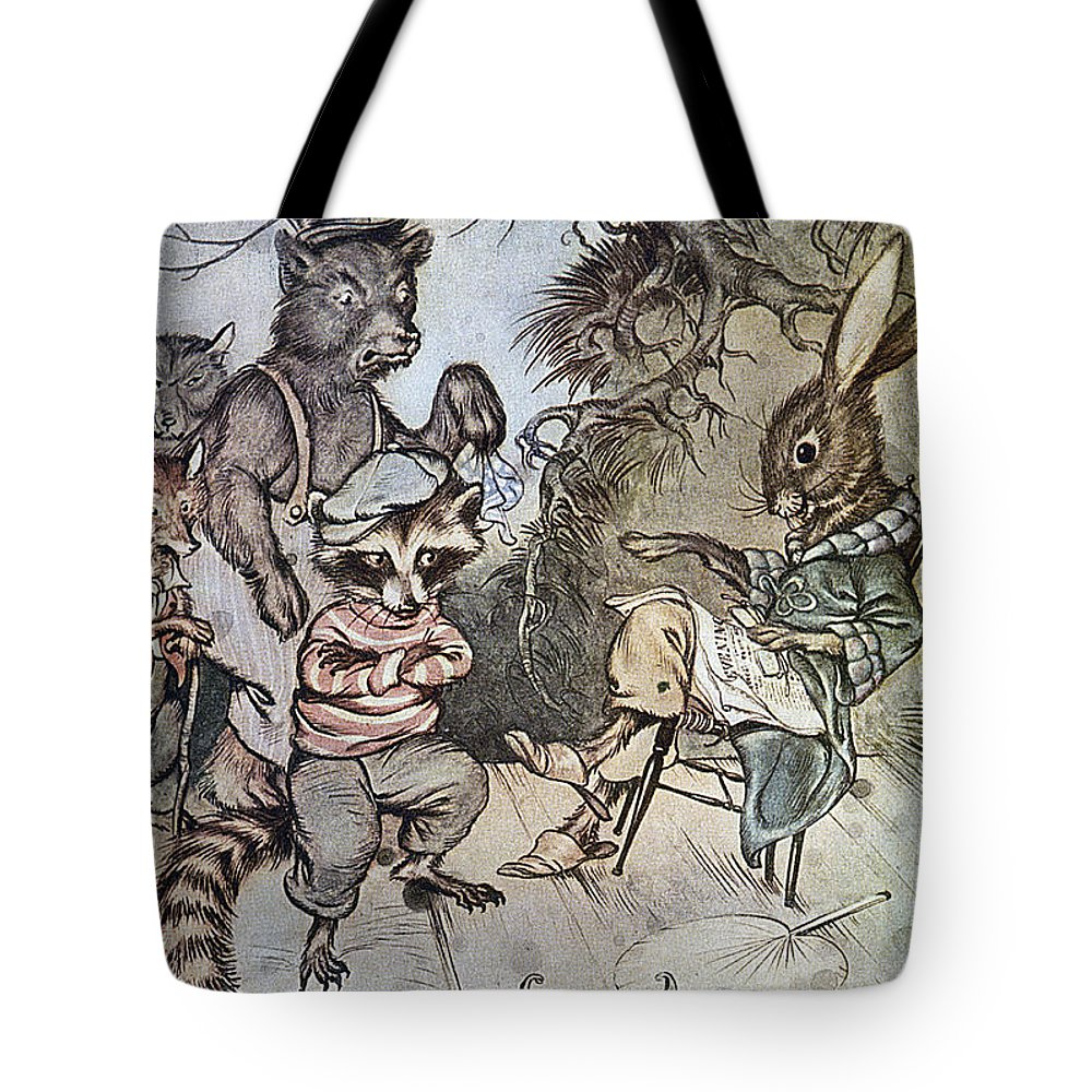 1917 Tote Bag featuring the photograph Harris: Uncle Remus, 1917 by Granger