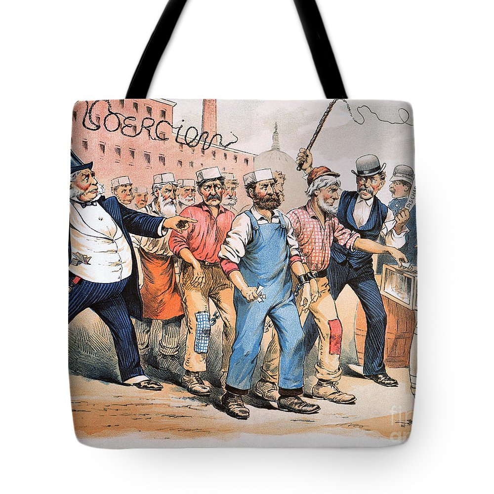 1888 Tote Bag featuring the photograph Harrison Cartoon, 1888 by Granger
