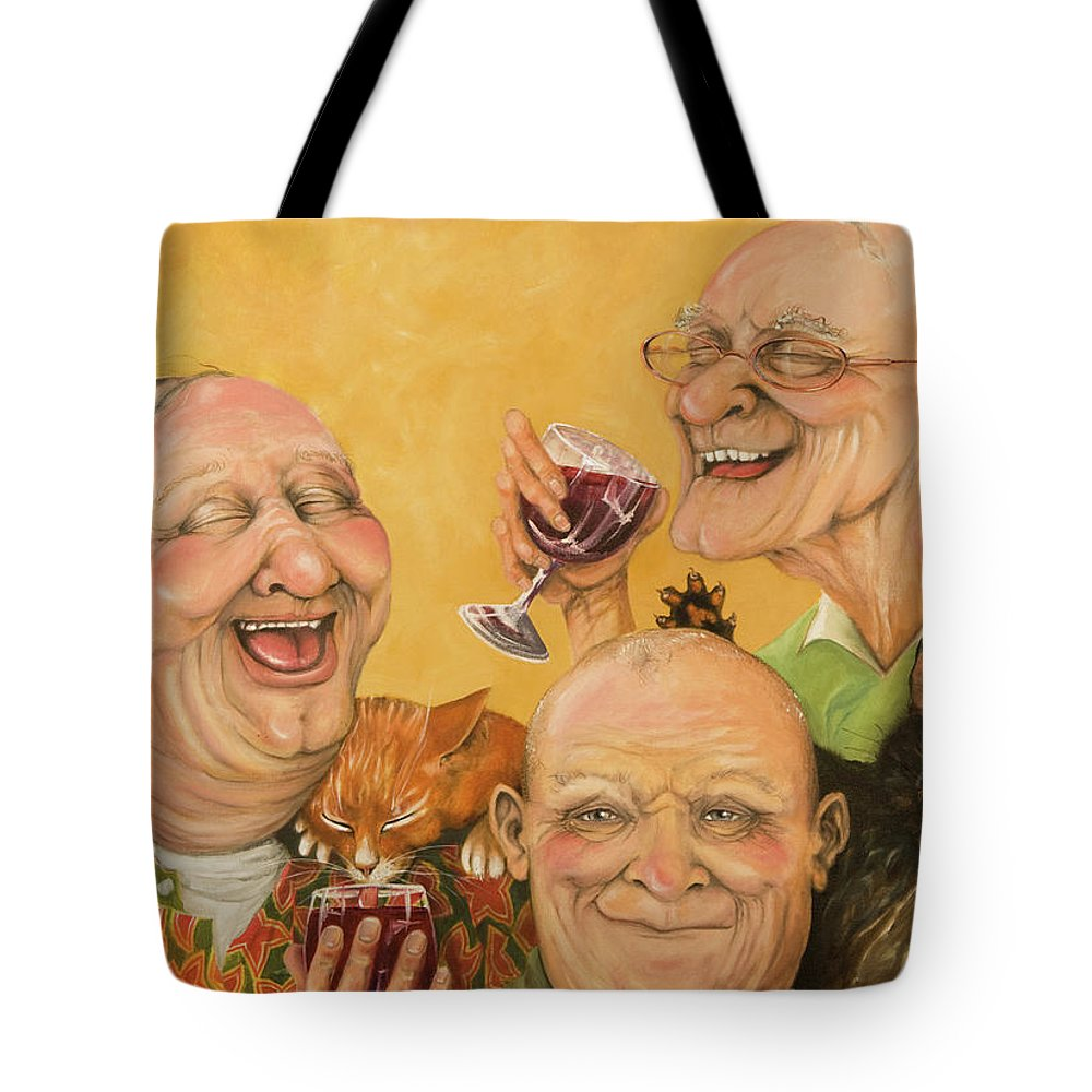 Men Tote Bag featuring the painting Harry's Lodge Meeting by Shelly Wilkerson