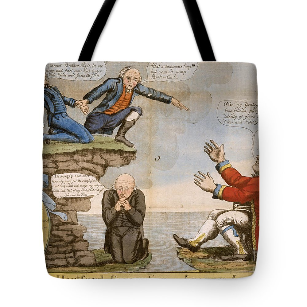 1814 Tote Bag featuring the photograph Hartford Convention, C1814 by Granger