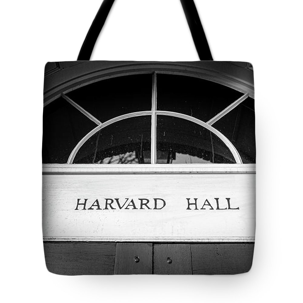 Harvard Tote Bag featuring the photograph Harvard Hall by Stephen Stookey