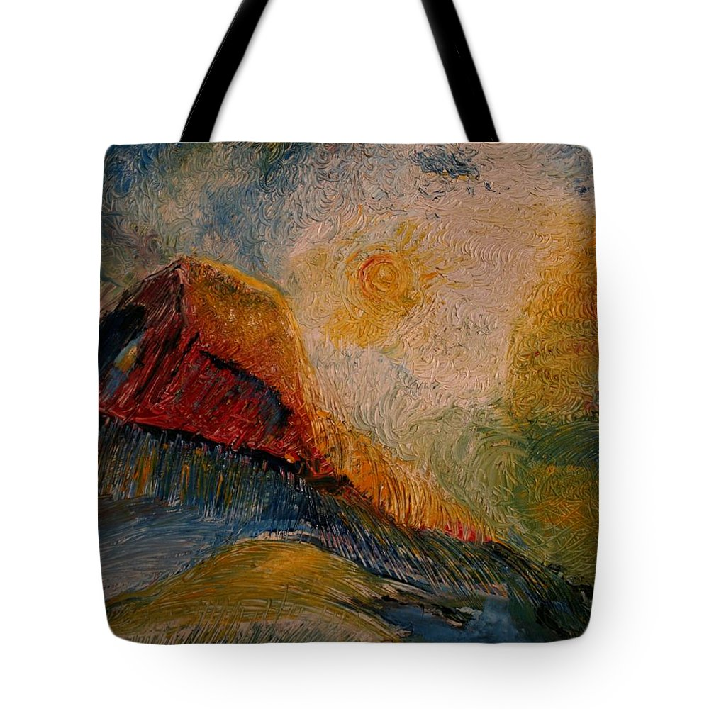 Rede Tote Bag featuring the painting Harvast by Jack Diamond