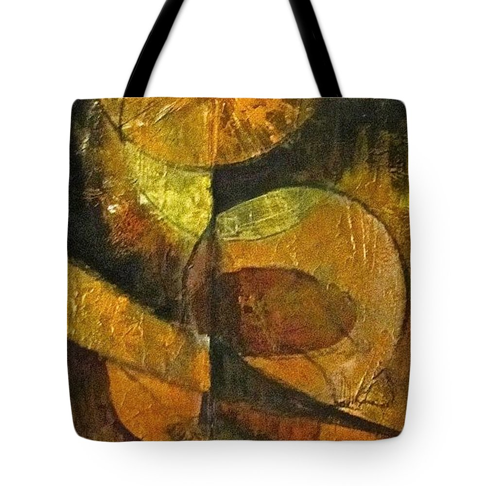 Abstract Tote Bag featuring the painting Harvest by Barbara O'Toole