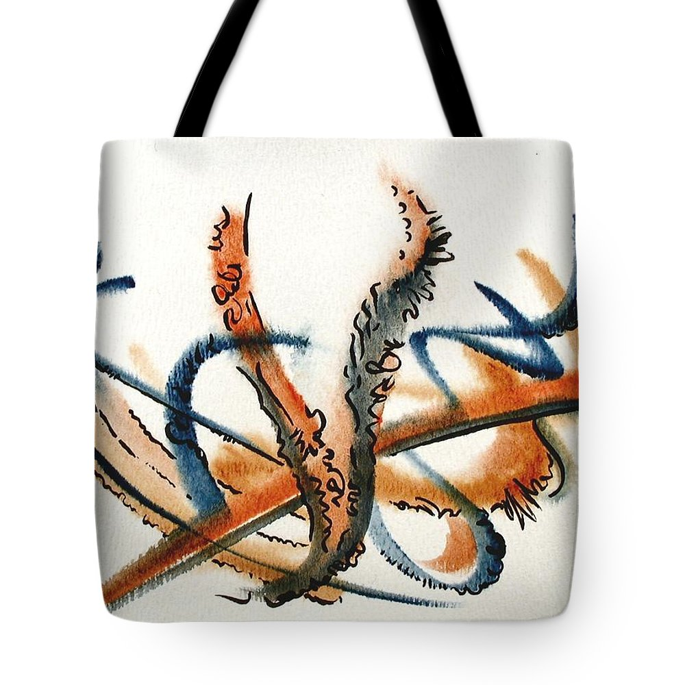 Watercolor Tote Bag featuring the painting Harvest by Dave Martsolf