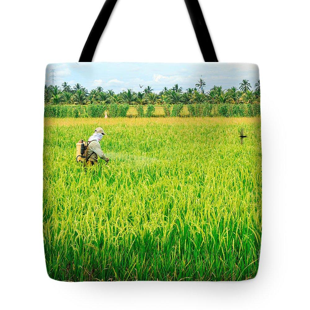 Human Interest Tote Bag featuring the photograph Harvest by Jordan Pigi