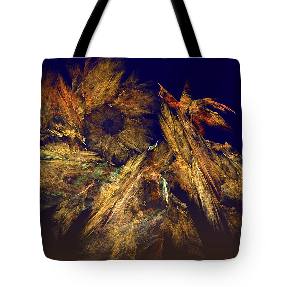 Abstract Tote Bag featuring the digital art Harvest Of Hope by Rein Nomm