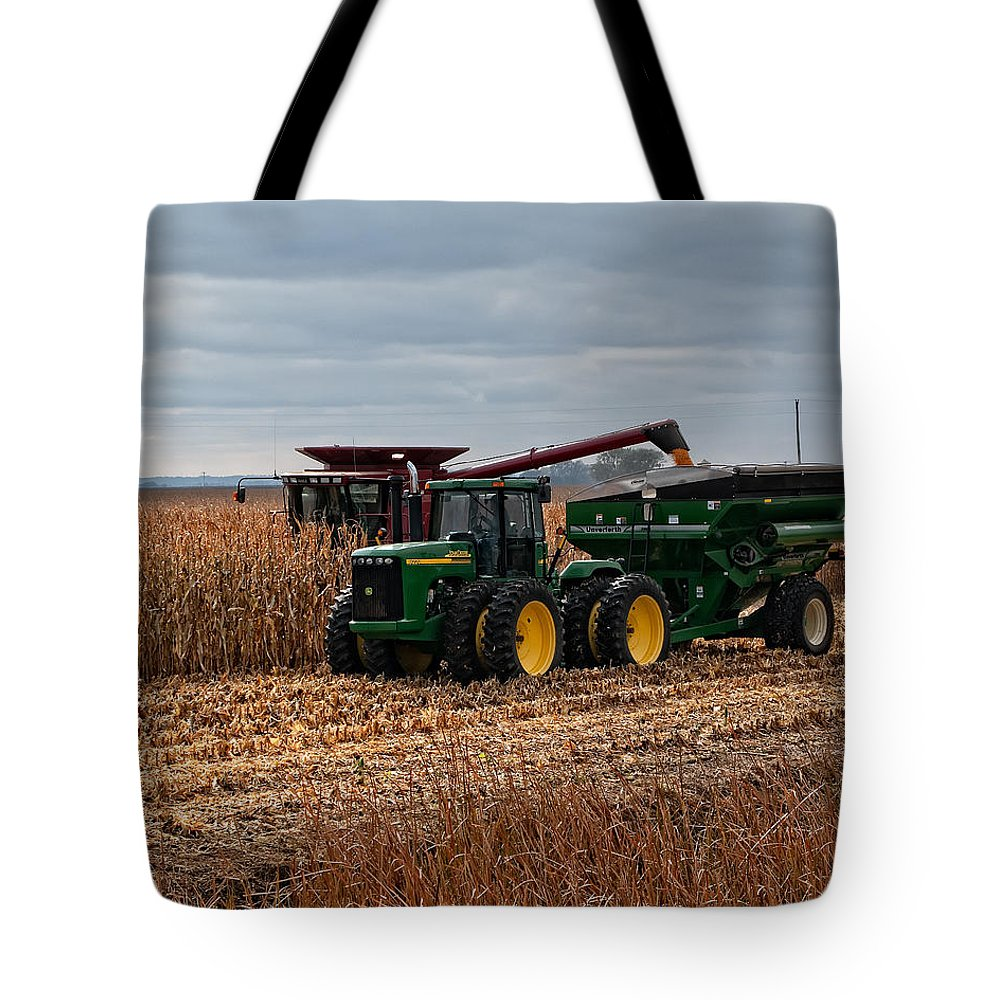 Farm Tote Bag featuring the photograph Harvest Time by Gary Prill