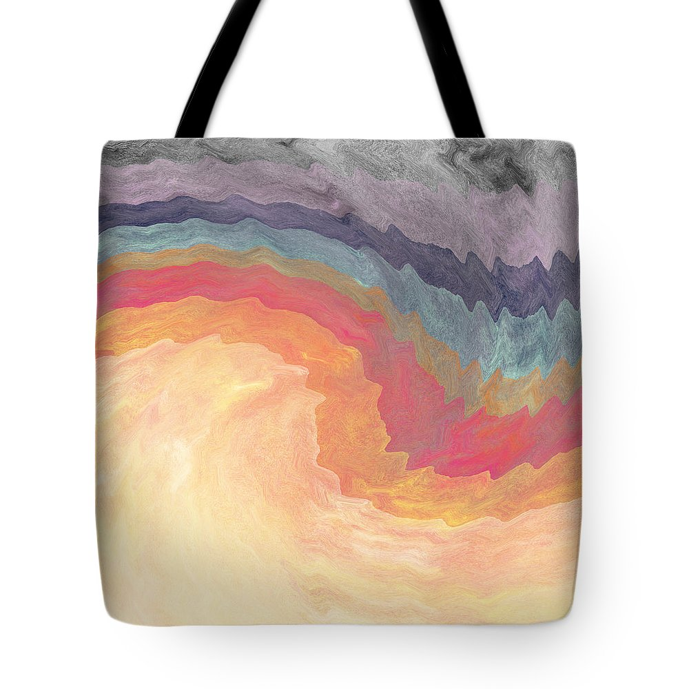 Abstract Tote Bag featuring the painting Harvest Wind- Abstract Art By Linda Woods by Linda Woods