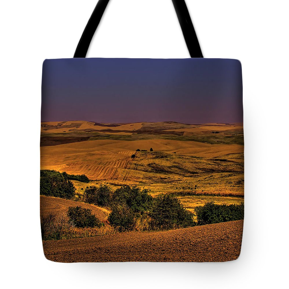 Harvest Tote Bag featuring the photograph Harvested Fields by David Patterson