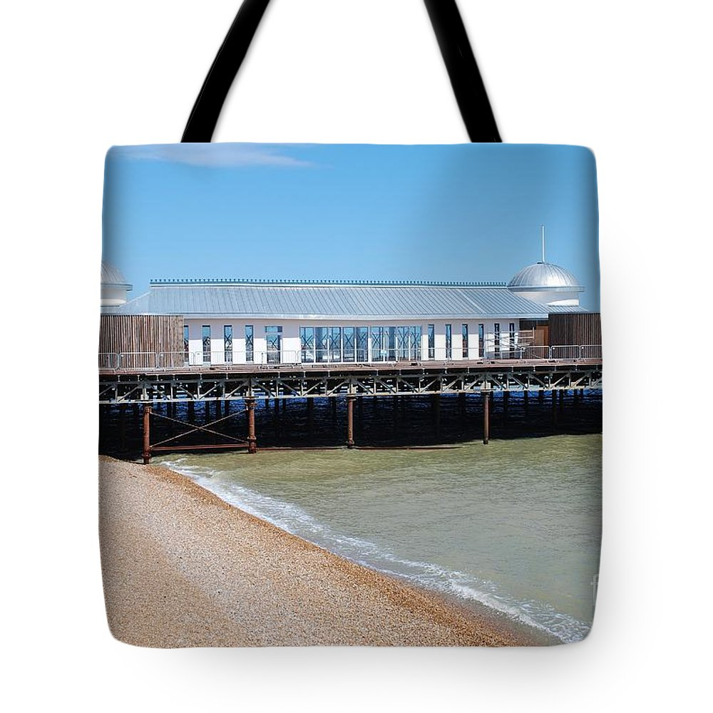 Hastings Tote Bag featuring the photograph Hastings Pier Pavilion by David Fowler
