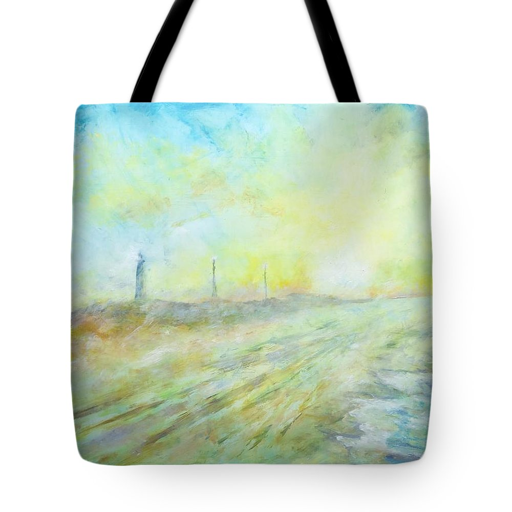 Hatteras Lighthouse Tote Bag featuring the painting Hatteras Lighthouse by Robert Regan