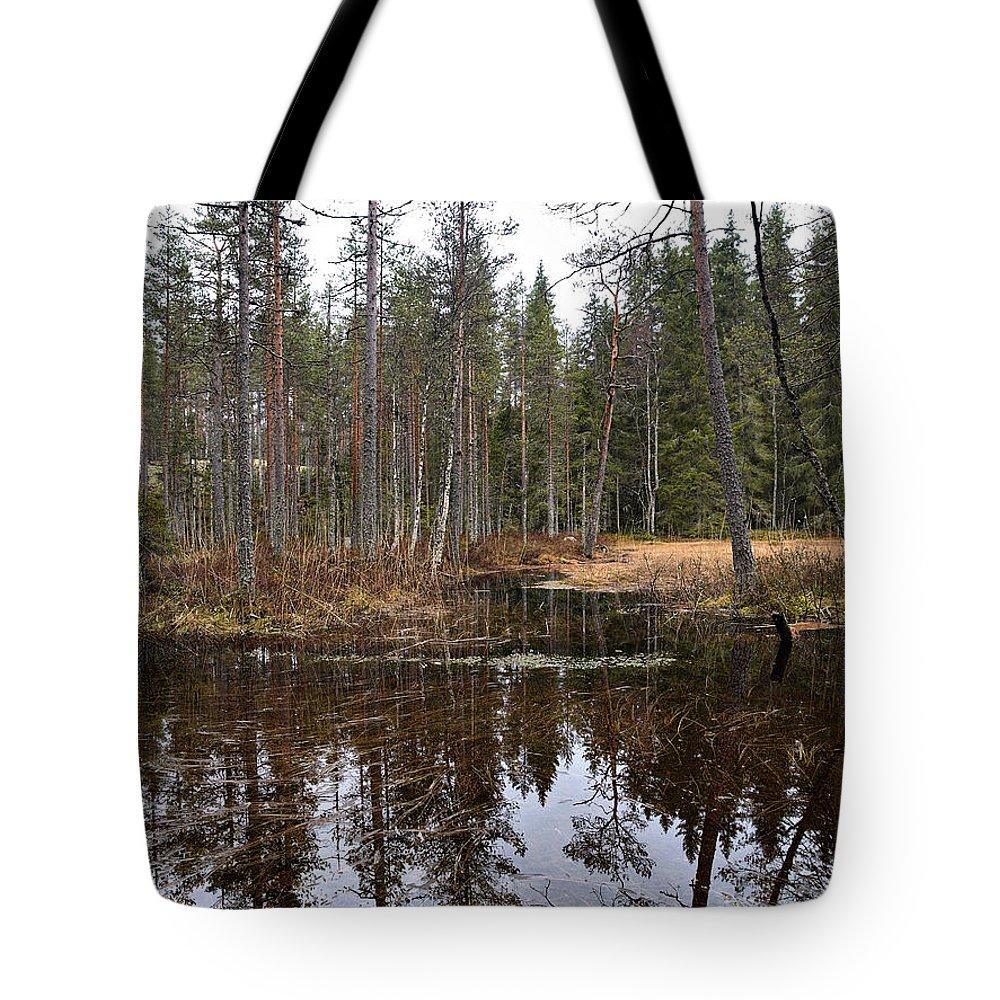 Lehtokukka Tote Bag featuring the photograph Haukkajoki 1 by Jouko Lehto