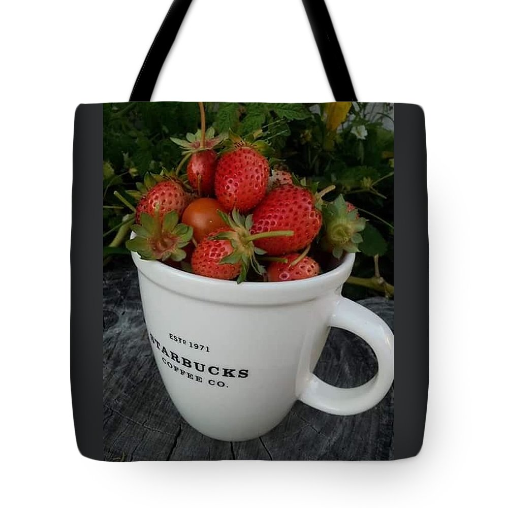 Strawberries Tote Bag featuring the photograph Have A Cup Of Berries by Anjelika Furmanova