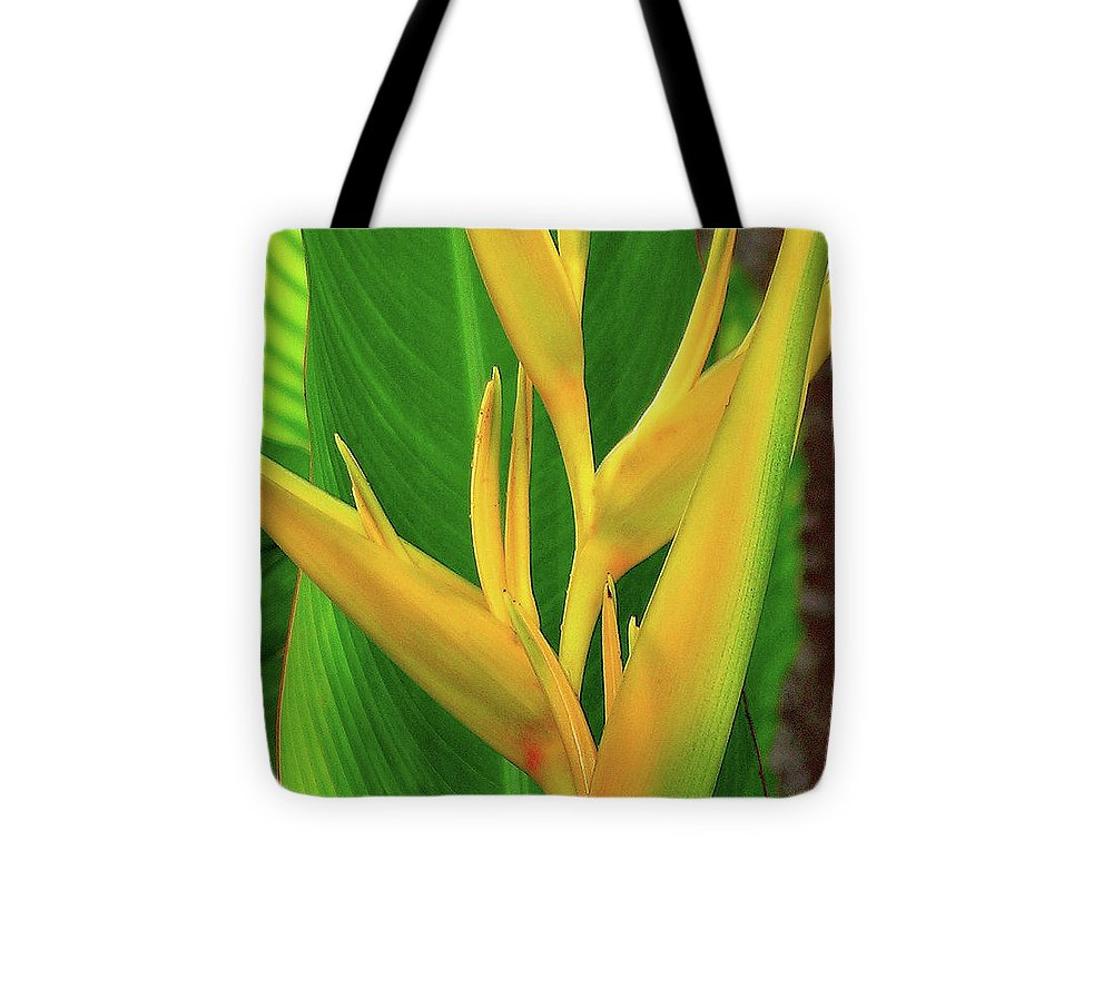 Hawaii Flowers Tote Bag featuring the photograph Hawaii Golden Torch by James Temple