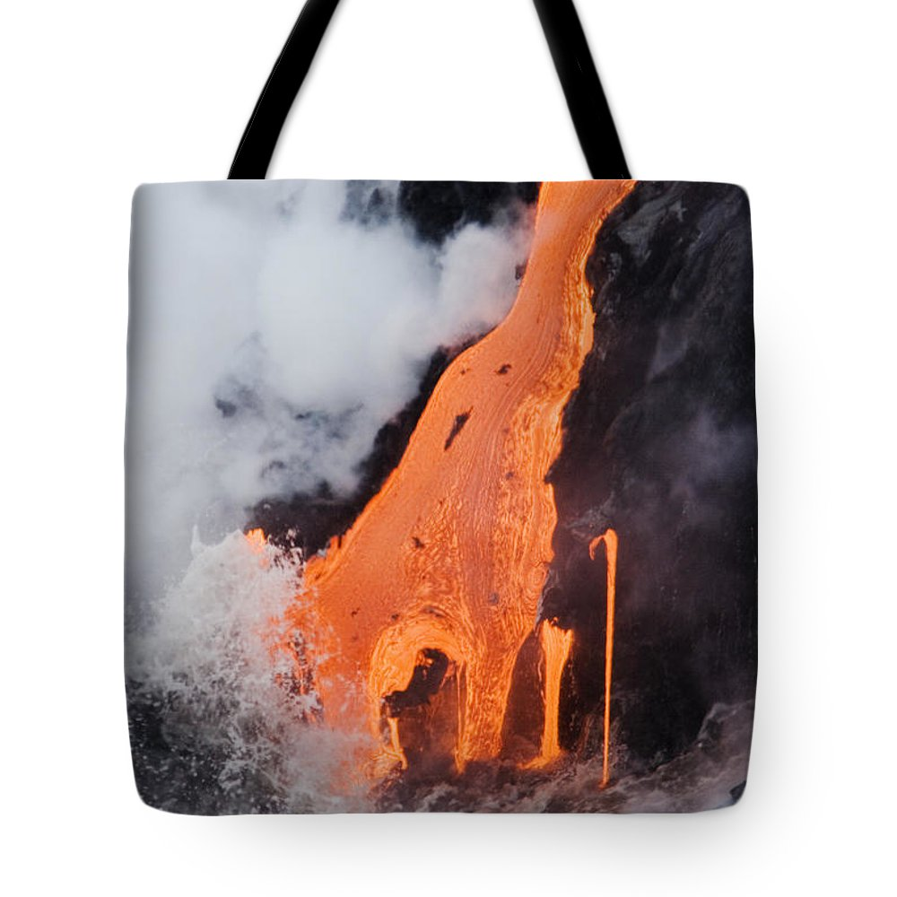 Active Tote Bag featuring the photograph Hawaii Lava by Ron Dahlquist - Printscapes