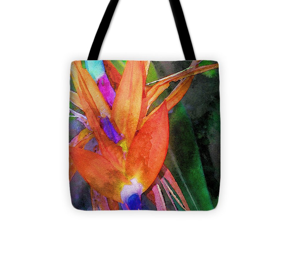 Bird Of Paradise Tote Bag featuring the digital art Hawaiian Abstract by James Temple