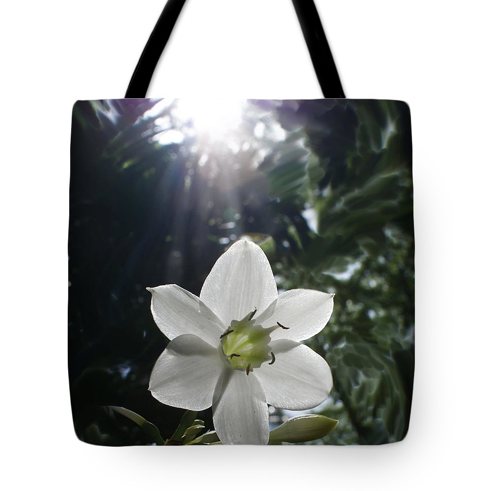 Hawaiian Tote Bag featuring the photograph Hawaiian Flower by Heather Coen