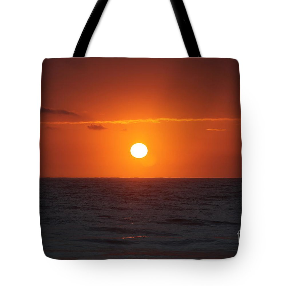 Sunrise Tote Bag featuring the photograph Hawaiian Sunrise by Nadine Rippelmeyer