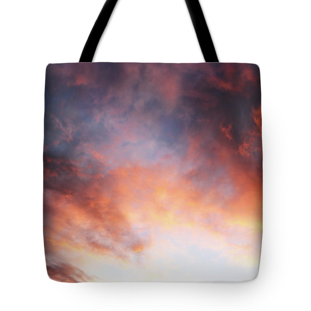 Sunset Tote Bag featuring the photograph Hawaiian Sunset Clouds by Christopher Johnson