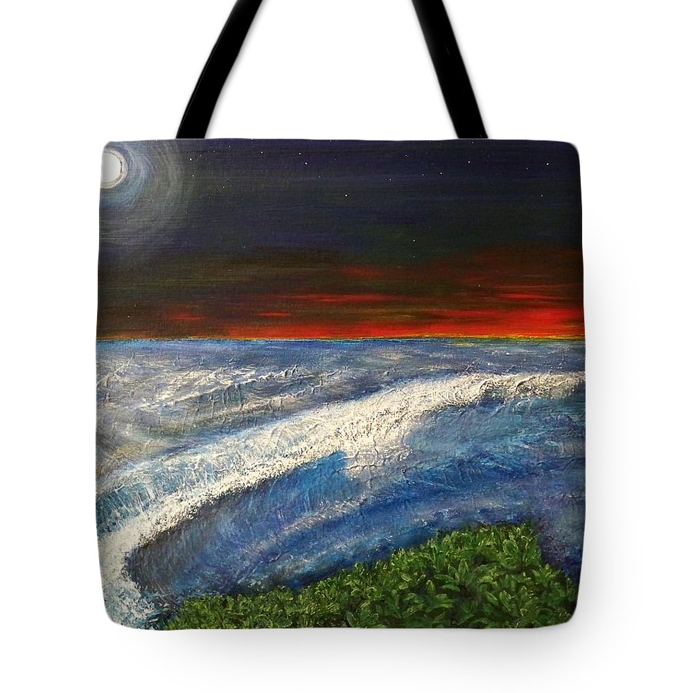 Beaches Tote Bag featuring the painting Hawiian View by Michael Cuozzo