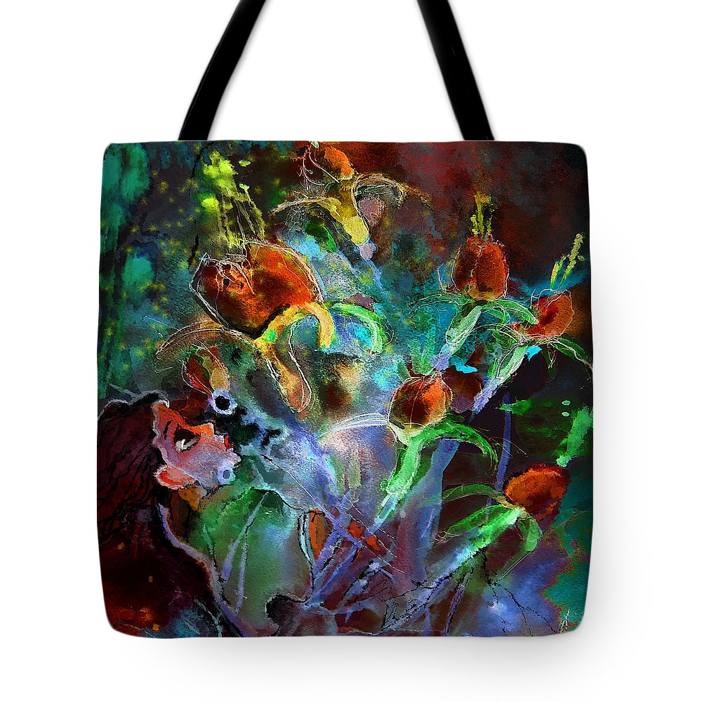 Dream Art Tote Bag featuring the painting Hay Fever Dream by Miki De Goodaboom