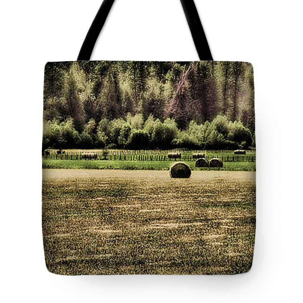 Hay Bales Tote Bag featuring the photograph Hay Harvest by David Patterson