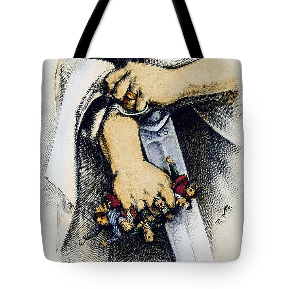 1886 Tote Bag featuring the photograph Haymarket Trial, 1886 by Granger