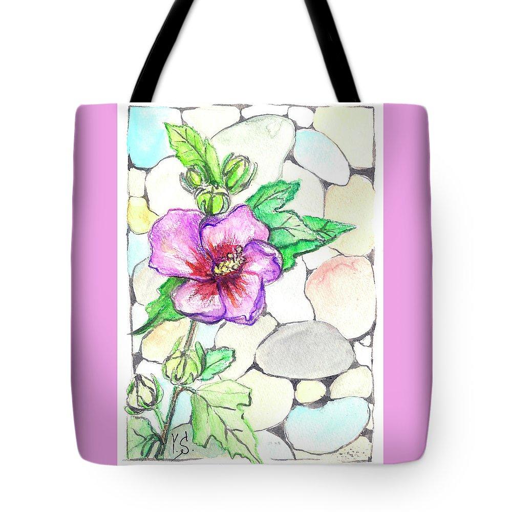 Hazel Tote Bag featuring the painting Hazel by Yana Sadykova