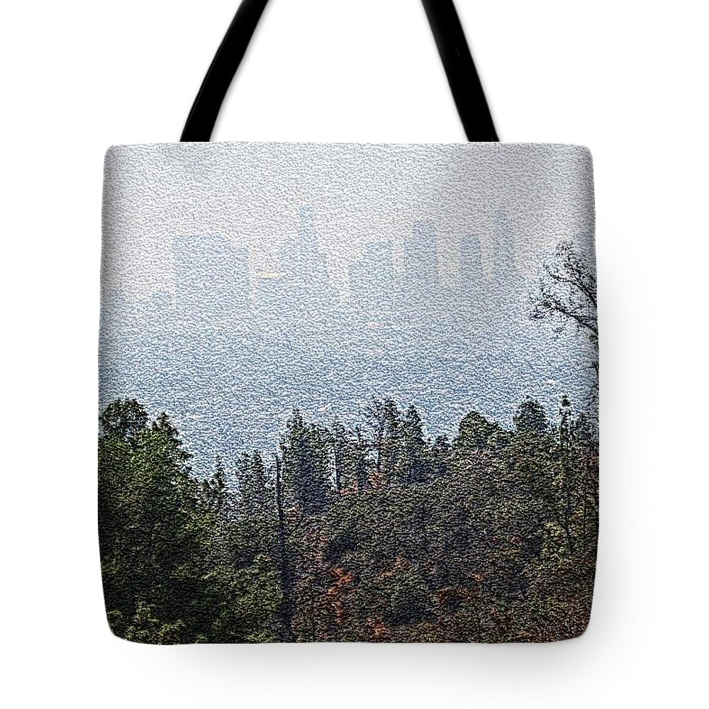 Los Angeles Skyline Tote Bag featuring the photograph Hazy L.a. by Robert Butler