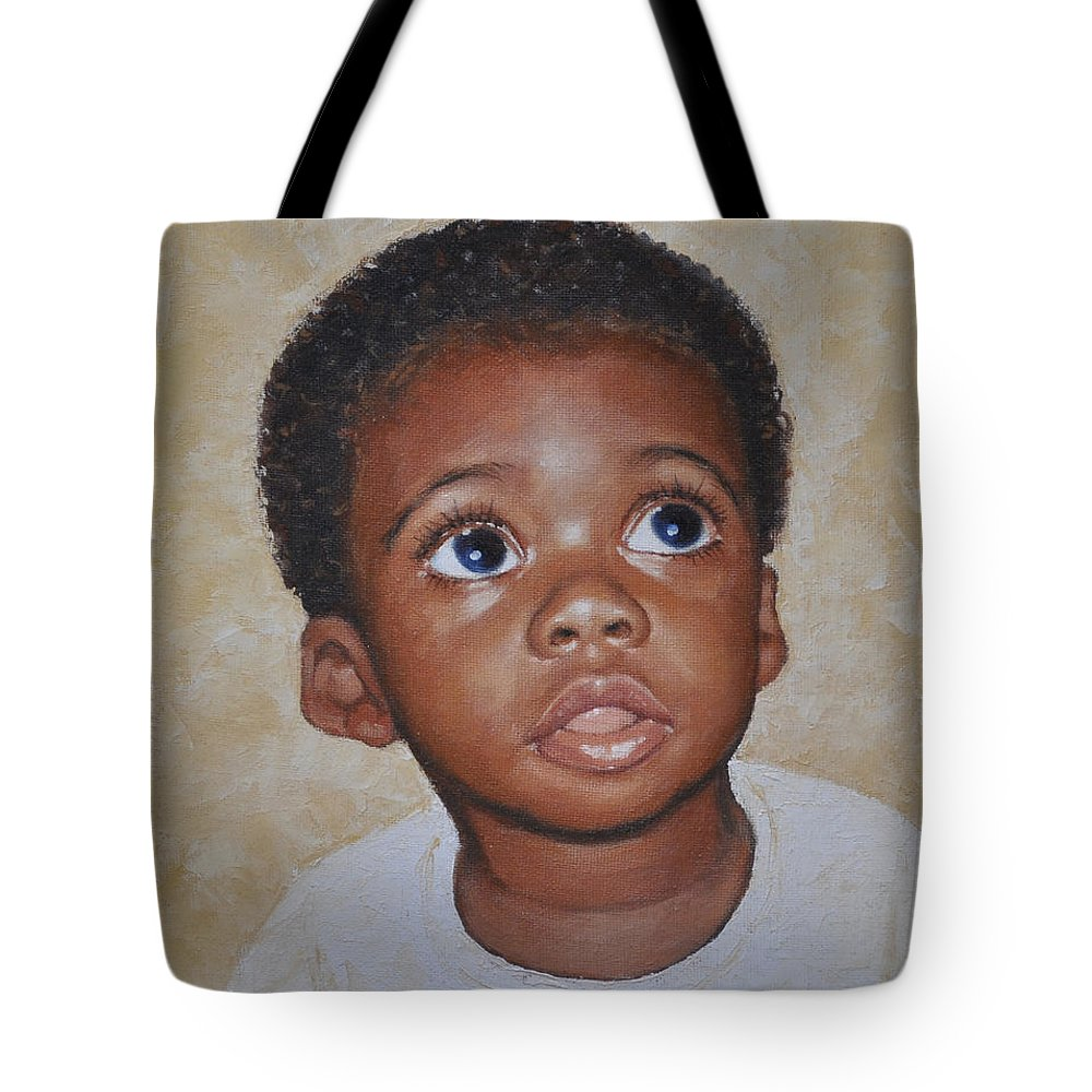 Portaits Tote Bag featuring the painting He Is Coming by Iliyan Bozhanov