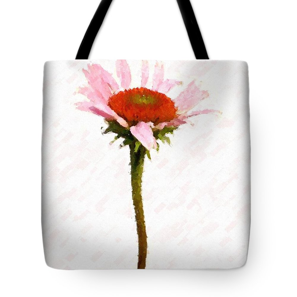 Caulk Tote Bag featuring the photograph He Loves Me He Loves Me Not by Angie Tirado