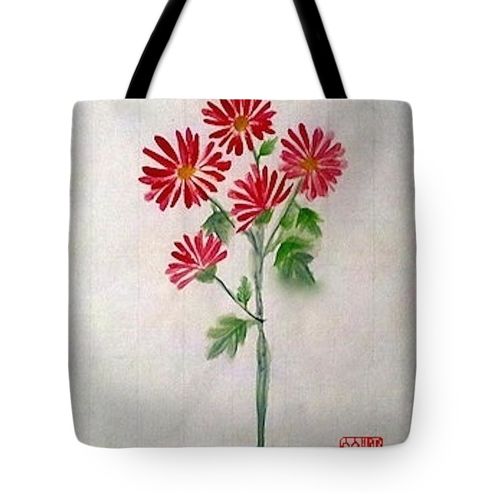 Daisies Tote Bag featuring the painting He Loves Me He Loves Me Not by Margaret Welsh Willowsilk