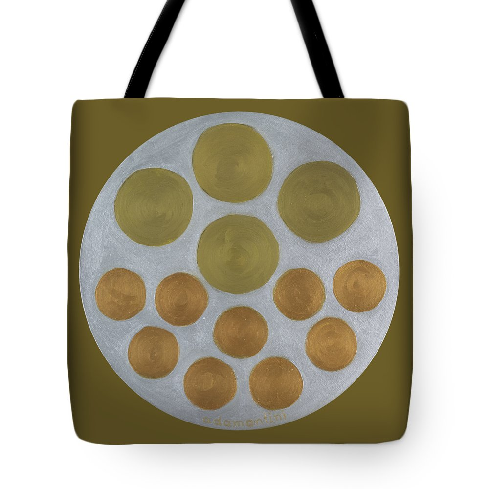 He Tu Tote Bag featuring the painting He Tu Metal Round by Adamantini Feng shui