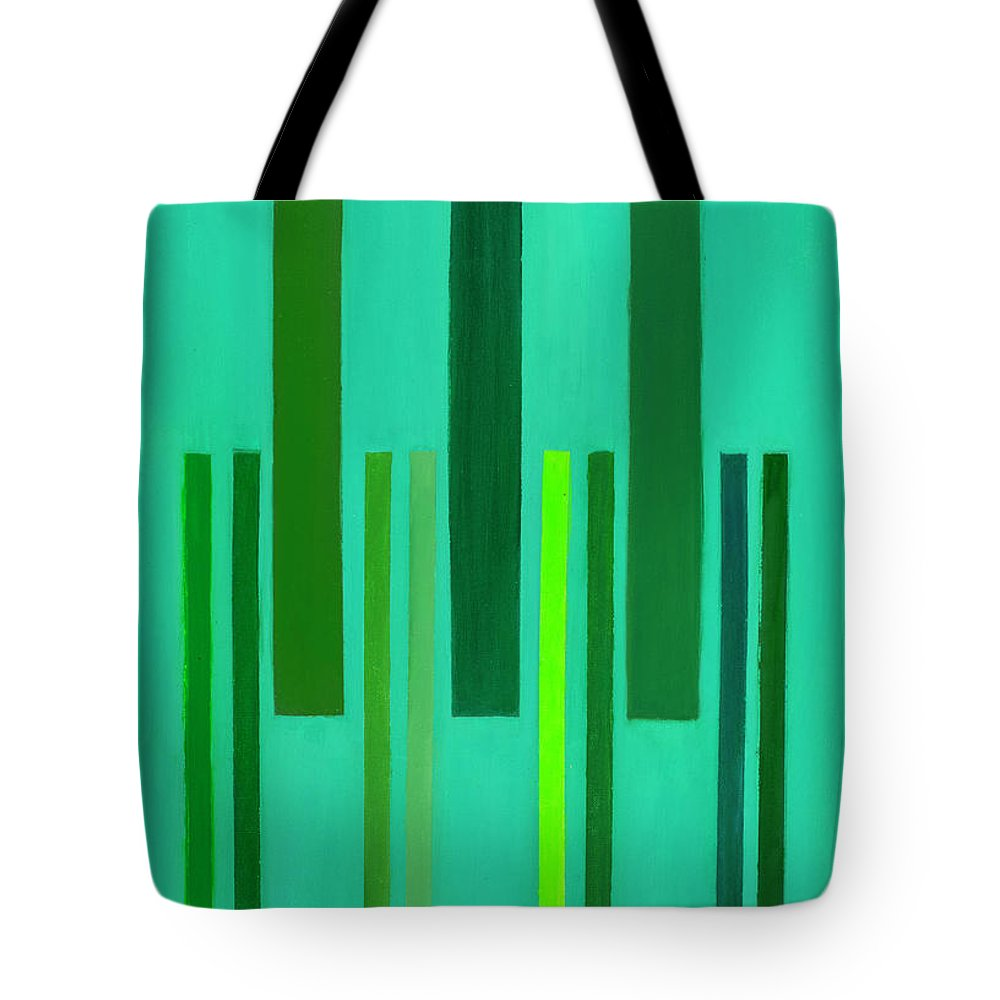 He Tu Tote Bag featuring the painting He Tu Wood by Adamantini Feng shui