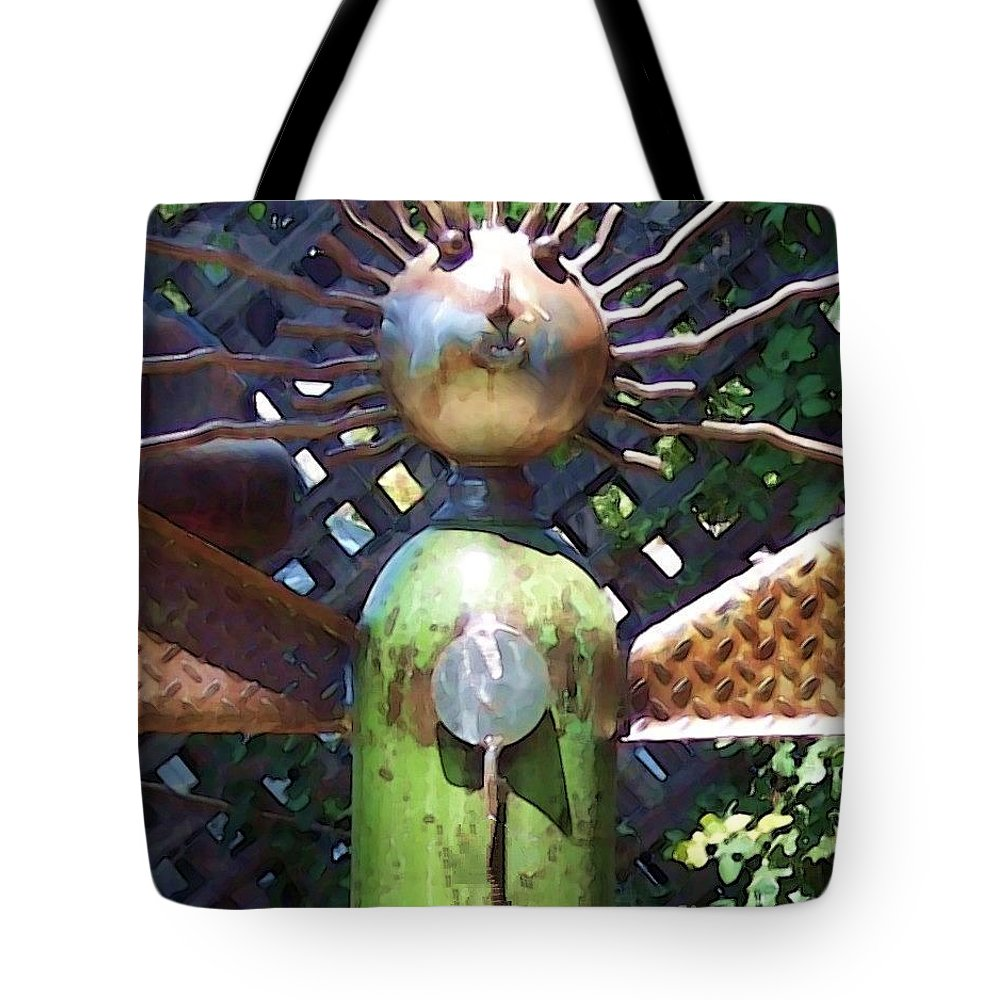 Sculpture Tote Bag featuring the photograph Head For Detail by Debbi Granruth