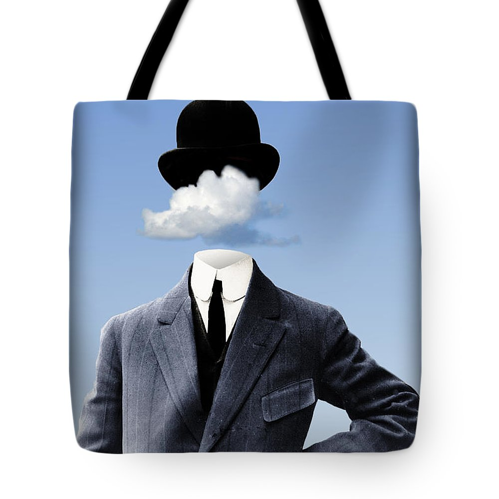 head In The Clouds Tote Bag featuring the digital art Head In The Clouds by Kenneth Rougeau