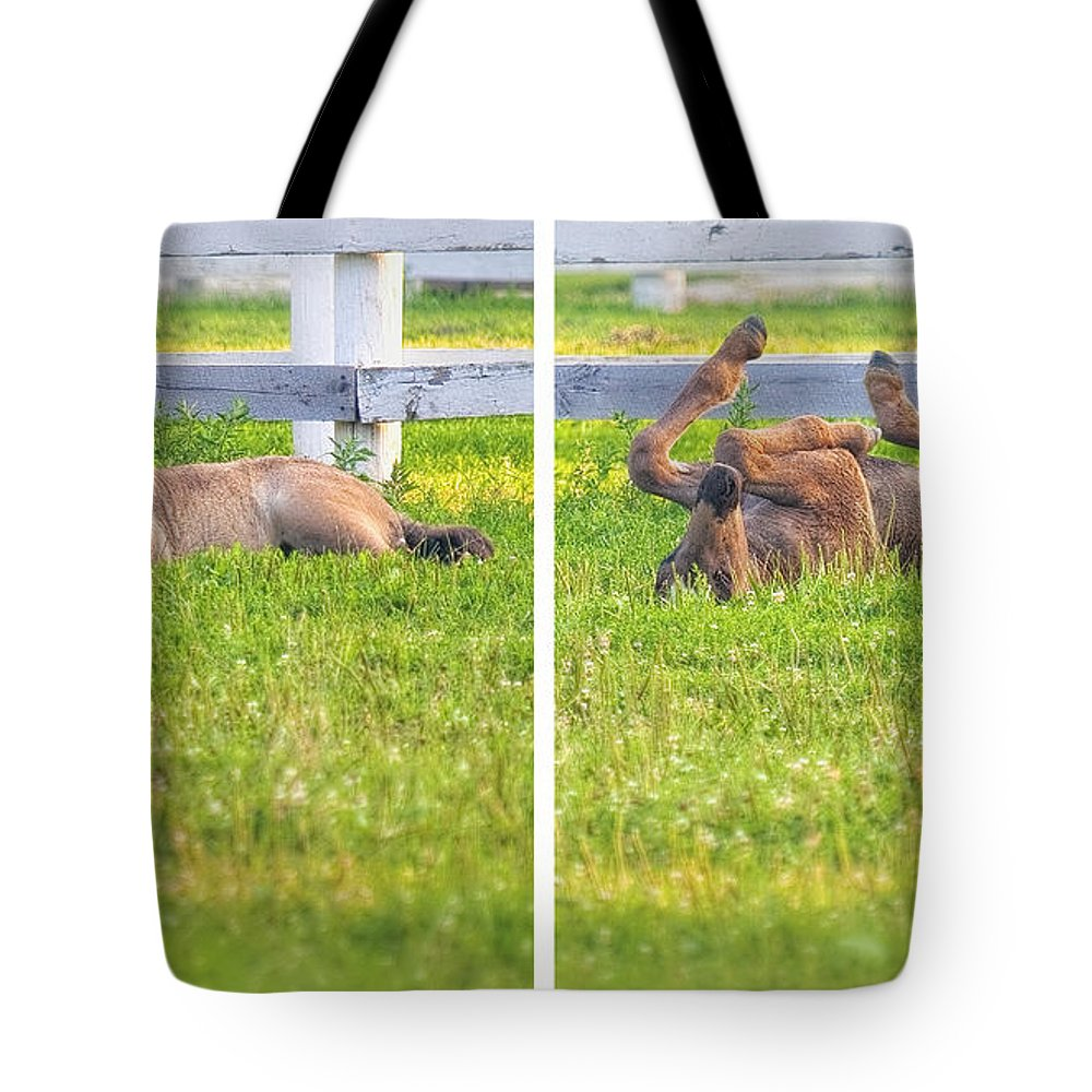 Animal Tote Bag featuring the digital art Head Over Heels by Will Jacoby Artwork
