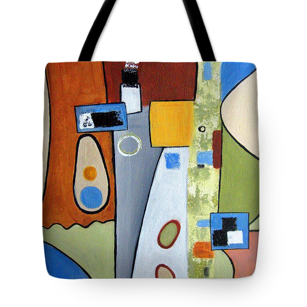 Abstract Tote Bag featuring the painting Headspin II by Ruth Palmer