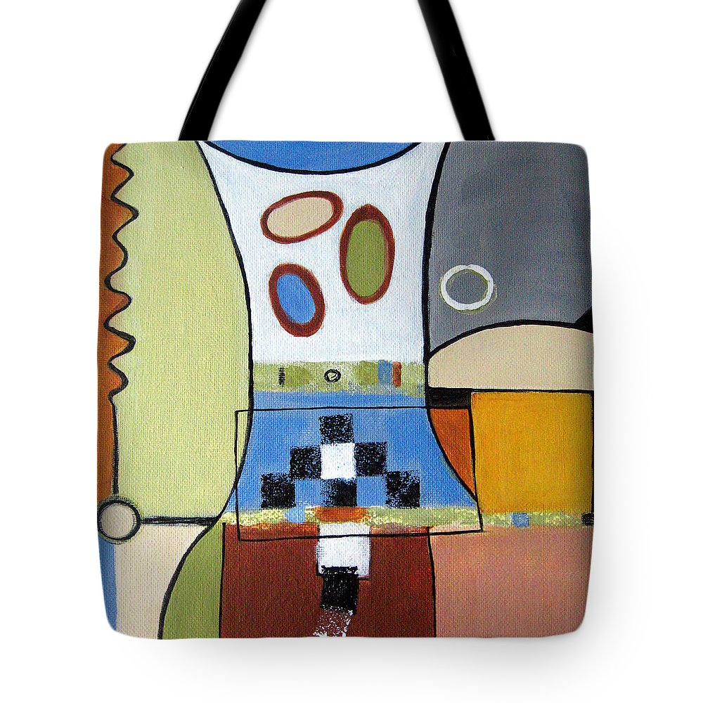 Abstract Tote Bag featuring the painting Headspin by Ruth Palmer