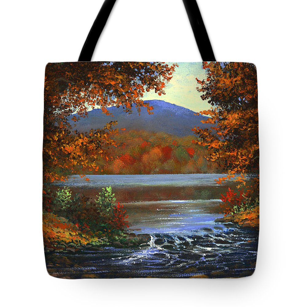 Landscape Tote Bag featuring the painting Headwaters by Frank Wilson