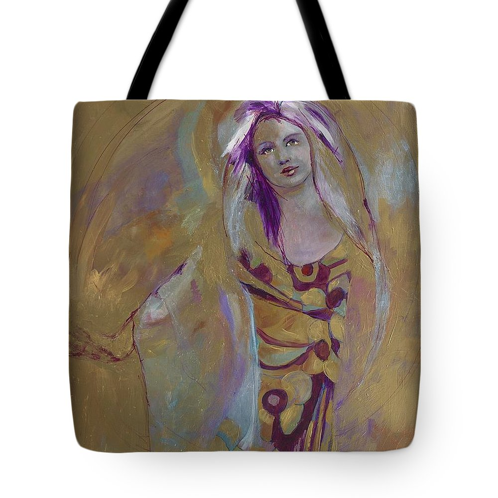 Spritual Healer Tote Bag featuring the painting Healer by Michael Clifford Shpack