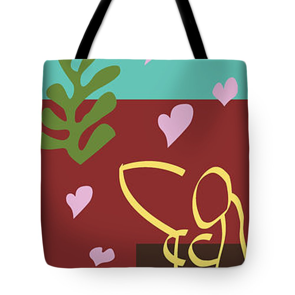 Henri Matisse Tote Bag featuring the painting Health - Celebrate Life 3 by Xueling Zou