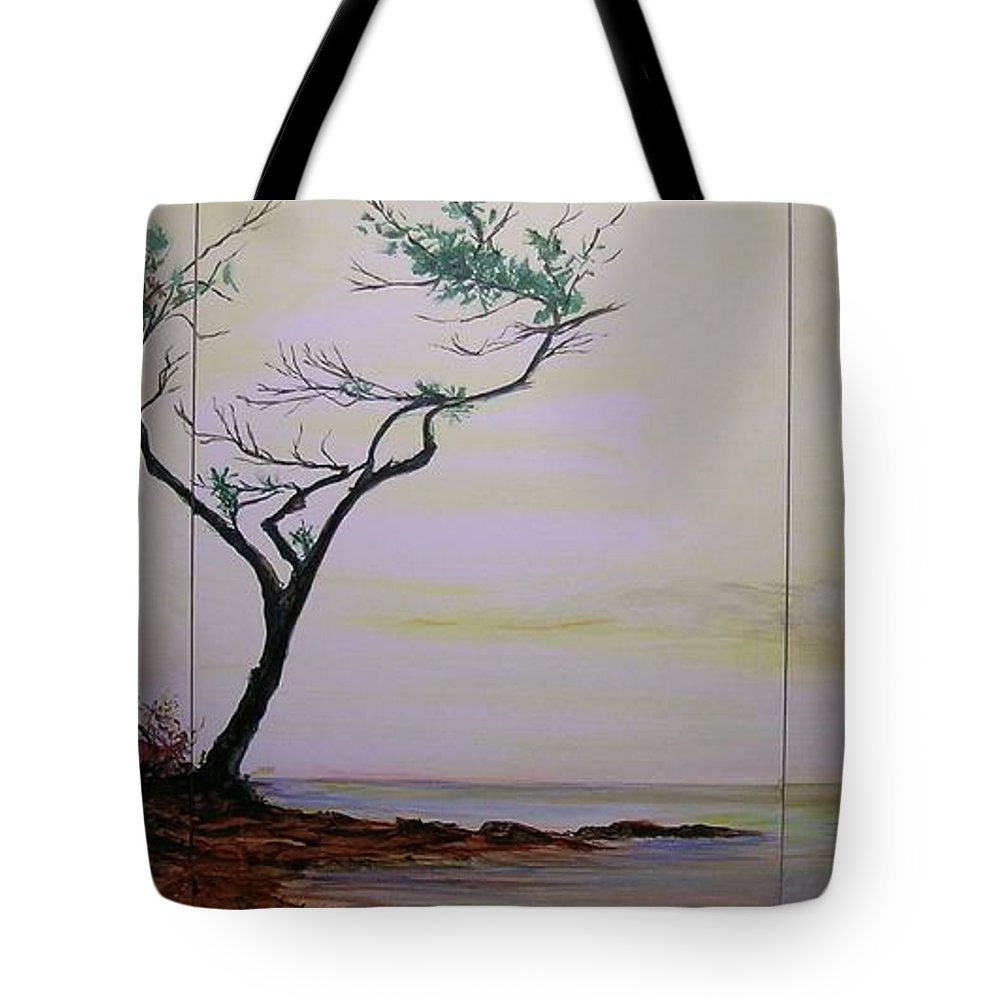 Sunrise Tote Bag featuring the painting Health Wealth And Benevolence by Lizzy Forrester