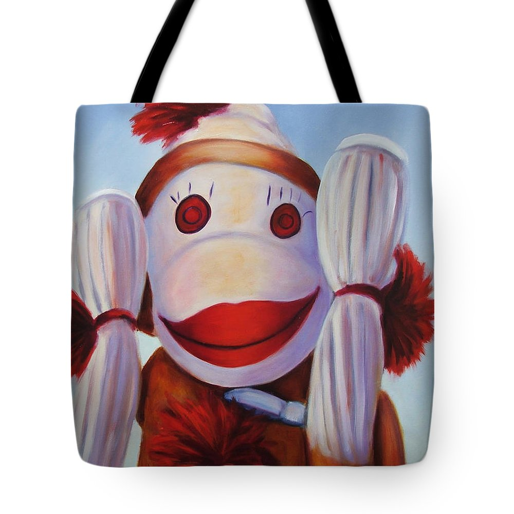 Children Tote Bag featuring the painting Hear No Bad Stuff by Shannon Grissom